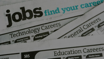 Photo of Job Seeker section in newspaper
