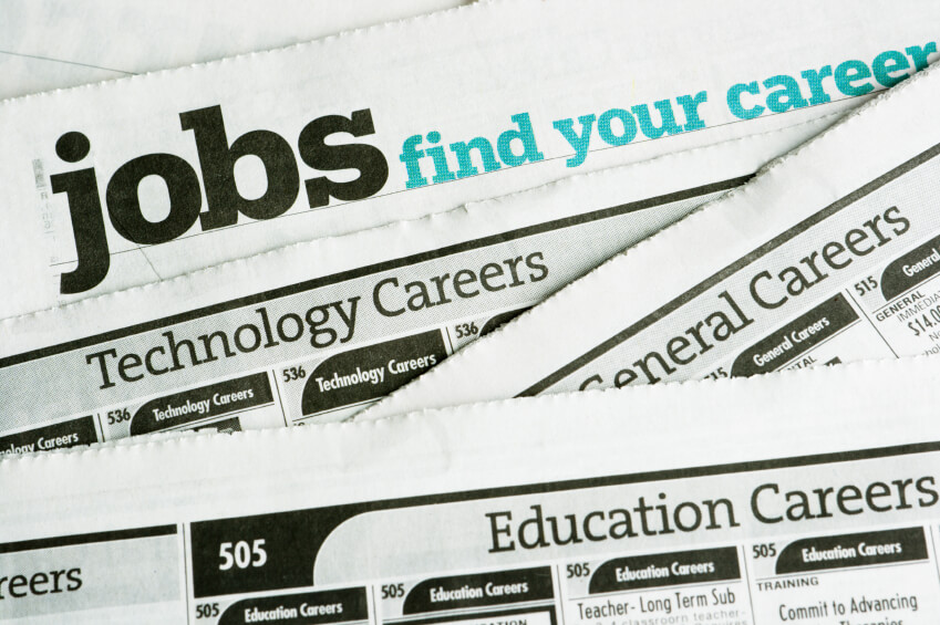 Picture of Job Section in the Newspaper
