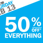 50% Off Everything Sale-Feb